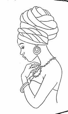 Diseño de africana Black Girl Art, Black Women Art, Black Art, African Drawings, African Art Paintings, Art Sketches, Art Drawings, Afrique Art, African American Art