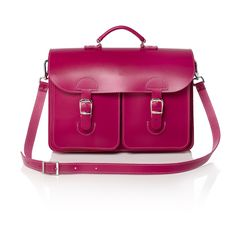 09c6eb77d3a Fuchsia leather satchel - OldSchool Bags gave the old Dutch leather satchel  from the '70s