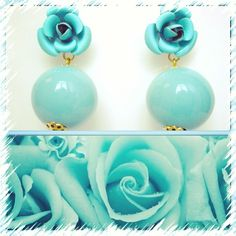 Fashion accesories, made in Italy fashion earrings, jewelry, orecchini, moda, Matildesign, bijoux, turquoise
