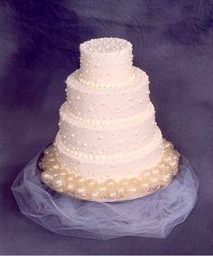 Bubble themed wedding cake