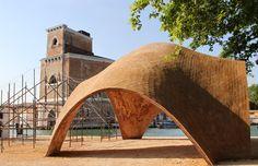 venice architecture biennale norman foster droneport - square  2 direction module