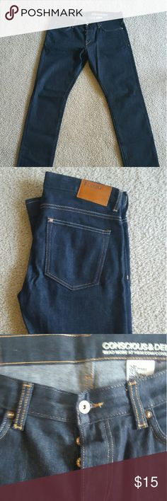 H&M Mens Dark Wash Slim Fit Jeans - W33 L32 Worn only twice. Excellent condition. H&M Jeans Slim