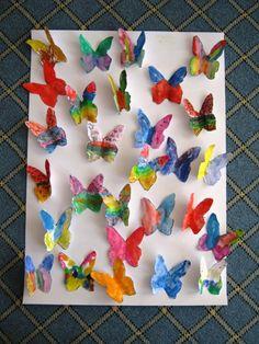 Kelebek Sanat Etkinliği | MiniMiniyiz Origami Butterfly Easy, Style, Creative Crafts, Creativity, Insects, Swag, Outfits