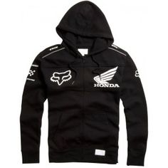Fox Racing Honda Zip Hooded Sweatshirt Black. Need this. It's perfect. Fox Racing Clothing, Casual Mom Style, Flex Fit Hats, Riding Gear, Country Outfits, Mens Sweatshirts, Hooded Jacket, Honda, Cool Outfits