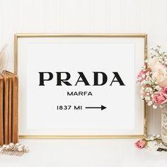 Digitaldruck - Poster, Kunstdruck, Illustration: Prada Marfa - ein Designerstück von Tales-by-Jen bei DaWanda