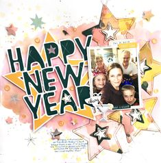 Happy New Year! I'm not quick enough to already be scrapping this year's New Year's photos, so I used photos from New Year's Eve 2018 and t. New Years Eve 2018, New Year Photos, Christmas Scrapbook, Silhouette Studio, Cutting Files, Happy New Year, Pink And Gold, Scrapbooking, News