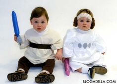 Luke Skywalker and Princess Leia  sc 1 st  Pinterest & Professional Twin Mommy: Our DIY Princess Leia and Luke Skywalker ...