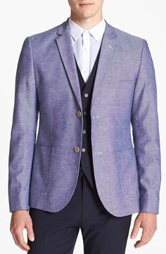 Topman Oxford Fleck Blazer available at #Nordstrom #TOPMAN