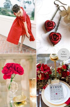The Perfect Palette: Wedding Colors | Red + Gold