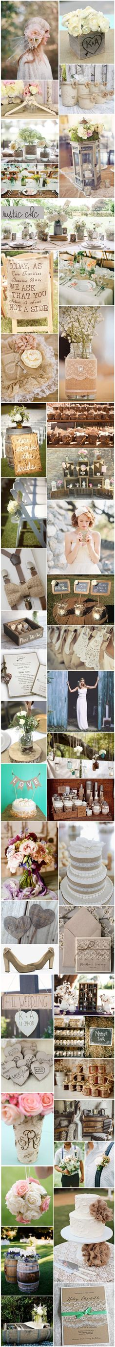 [Inspiration] Mariage rustique chic