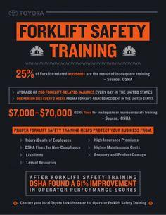Toyota #Forklift Safety Infographic via Slideshare