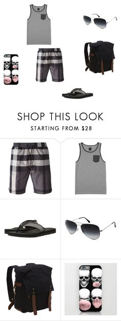 """""""Lex _Day 1"""" by logikitty on Polyvore featuring Burberry, RVCA, TOMS, Ray-Ban, Vagabond Traveler, men's fashion and menswear"""