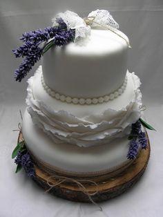 Wedding lavender cake