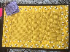A personal favorite from my Etsy shop https://www.etsy.com/listing/555934251/honey-bee-quilted-placemats-set-of-4