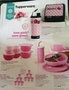 Breast cancer awareness tupperware