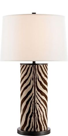 Table Lamps, Ralph Lauren Faux Zebra Hide Lamp, so elegant, inspire your friends and followers interested in luxury interior design & gifts with more beautiful accents like this from InStyle Decor Beverly Hills, Luxury Designer Furniture, Mirrors, Lighting, Art, Accents & Gifts, over 3,500 inspirations to choose from and share with our simple one click Pinterest Pin button enjoy & happy pinning