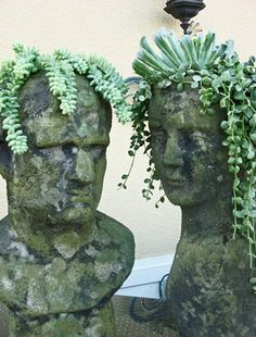 How To Make Concrete Head Planters For Your Garden | The WHOot