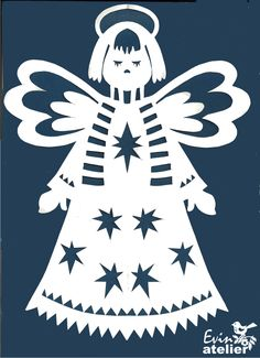 andělíček se šálou Christmas Paper Crafts, Handmade Christmas, Christmas Decorations, Angel Outline, Vinyl Ornaments, Angel Silhouette, Paper Cutting Patterns, Christmas Drawing, Scroll Saw Patterns