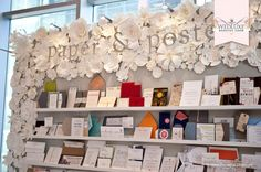 I loved the ingenuity (and paper florals) created by the stationery team at Paper and Poste.