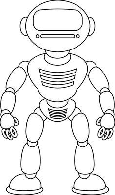 ausmalbild: karrikatur roboter. kategorien: roboter. kostenlose ausmalbilder in einer vielzahl