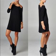 Xx Zoe Zippered Sueded Cuff Tunic Dress - 2 Colors