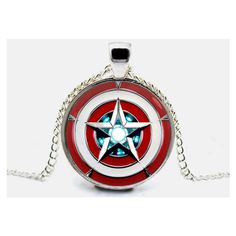 Captain America Necklace Iron Man Pendant Arc Reactor Necklace Jewelry... ($9.90) ❤ liked on Polyvore featuring jewelry, pendants, charm pendant, chains jewelry, chain pendants and pendant jewelry