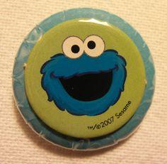 Sesame Street's Cookie Monster pinback button (badge)