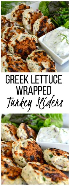 Greek Lettuce Wrapped Turkey Sliders // A quick and healthy dinner or appetizer for any occasion!