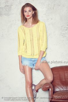 dámský letní ručně pletený svetřík z příze Ajman 333289b4b6