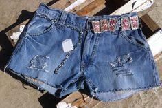 Arizona Jeanst Blue Jean Shorts & Silver by OCVintageArtCouture, $22.00