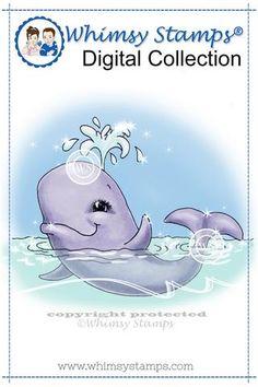 Winnifred Whale - Digital Stamp