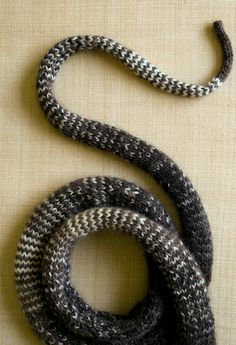 Laura's Loop: Striped Stockinette Snake - Knitting Crochet Sewing Crafts Patterns and Ideas! - the purl bee