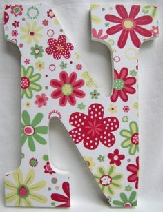 9 inch Wooden Letter Ready To Hang by besoblooms on Etsy