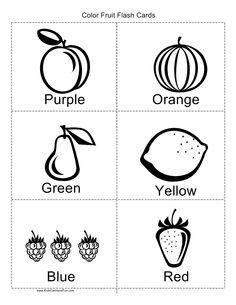 Color Fruit Flashcards