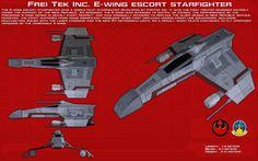 E-wing escort starfighter ortho [New] by unusualsuspex.deviantart.com on @DeviantArt