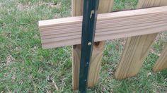 ideas on installing a semi-permanent fence...