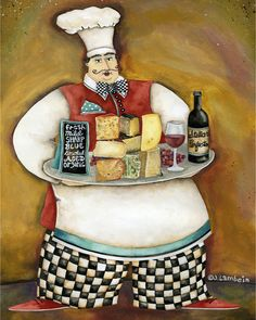 Art Print 8x10. For The Love Of Gourmet Cheese Chef. $18.00, via Etsy.