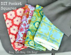 Boy, Oh Boy, Oh Boy!: DIY Pocket Square Tutorial (3 Ways) These make a great Father's Day Gift.