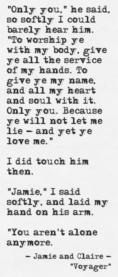 Jamie and Claire reunited. I need to finish of reading the second book