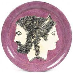 Fornasetti tray Giano Bifronte (Janus) lavender :