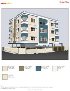 House Paint Exterior, Exterior House Colors, Exterior Color Combinations, Shade Card, Modern House Facades, Front Elevation Designs, Building Elevation, Asian Paints, Townhouse Designs