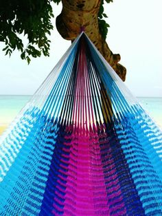 Hammock Art! 100% Handwoven, customizable hammocks from www.yellowleafhammocks.com #hammock