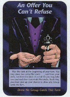 Illuminati Card Game only Published in 1995 - An Offer You Can't Refuse