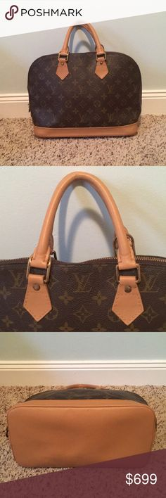 LV Alma EXCELLENT Freshly restored vintage Louis Vuitton Alma PM no cracks or smudges on the leather, no doors and no stains on the interior. Date code BA1905 posh ambassador. Quick shipper. Reasonable offers accepted. XSF29385829 Louis Vuitton Bags Satchels