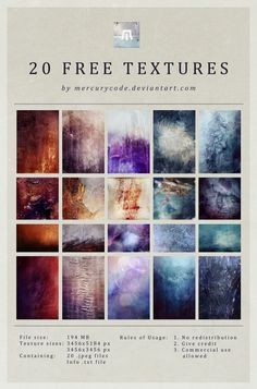 Freebie: 20 High Resolution Textures