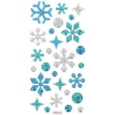 Snowflake Glitter Epoxy 3-D Sticker Embellishments