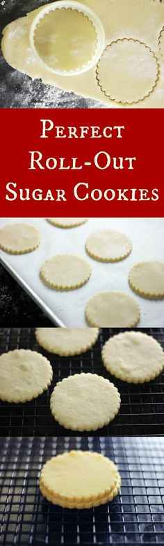 perfect roll out sugar cookies