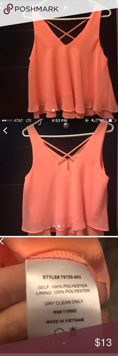 Lush Peach Top •Excellent condition •Bought from Nordstrom Lush Tops Tank Tops