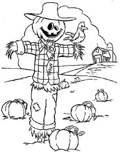 Free Printable Scarecrow Coloring Pages For Kids | Scarecrows ...