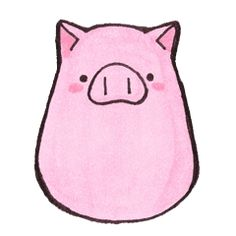 pink happy pig – Stickers LINE Cartoon Faces, Cute Cartoon, Cartoon Pig, Pig Wallpaper, Happy Pig, Pig Drawing, Pig Illustration, Rainy Day Crafts, Cute Piggies